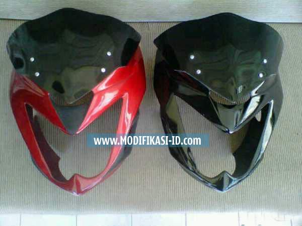 Cover Headlamp Verza hitam