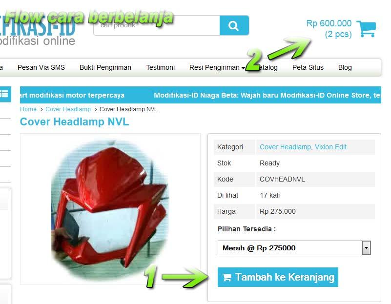 Cara Berbelanja Modifikasi-ID.com Online Store