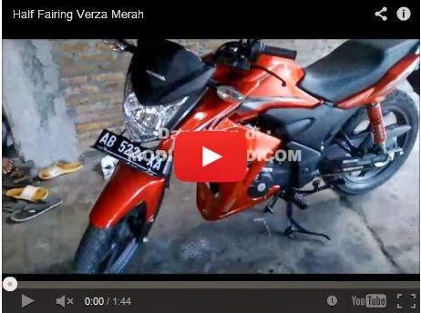 video half fairing verza merah