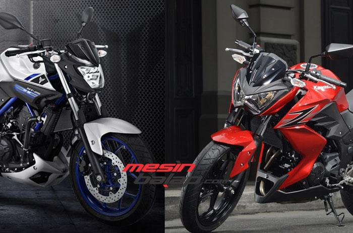Yamaha MT-25 vs Kawasaki Z250