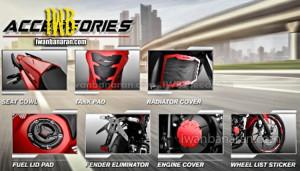 aksesories Honda new CB150R
