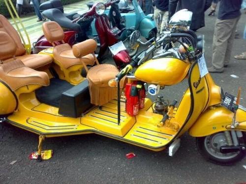 Modifikasi Motor Vespa Klasik