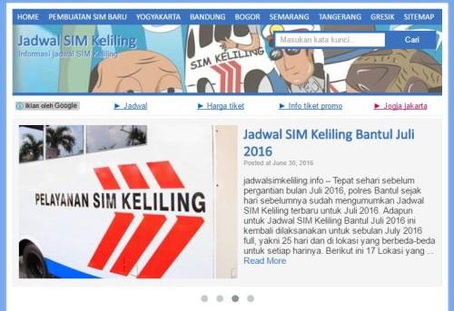 Jadwal SIM Keliling website